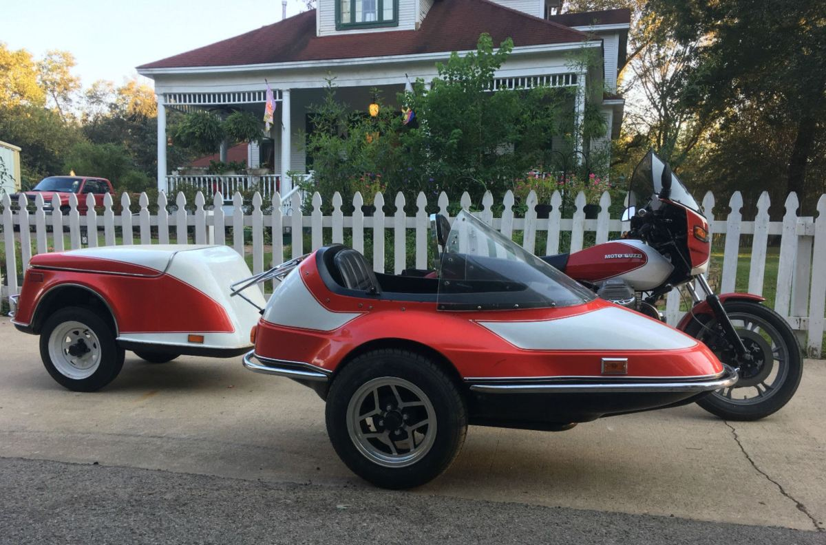1984 Moto Guzzi SP1000 with Sidecar and Trailer
