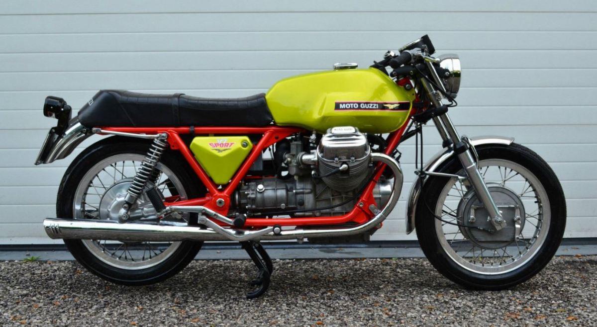 Telaio Rosso In Italy 1971 Moto Guzzi V7 Sport Bike Urious