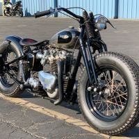 """The Nickel Peeper"" - 1950s Triumph Bonneville Custom"
