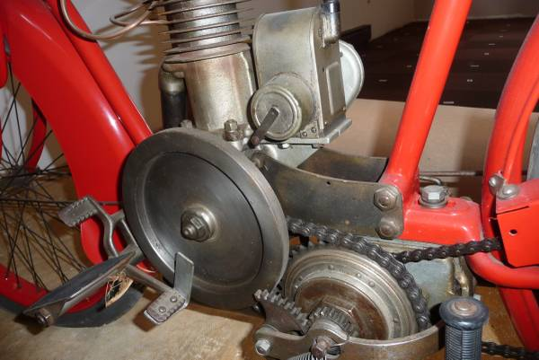 One Year Only - 1916 Indian Model K - Engine