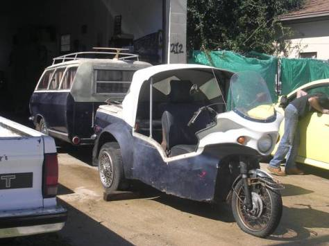 Renault Trike and Camper - Front Right