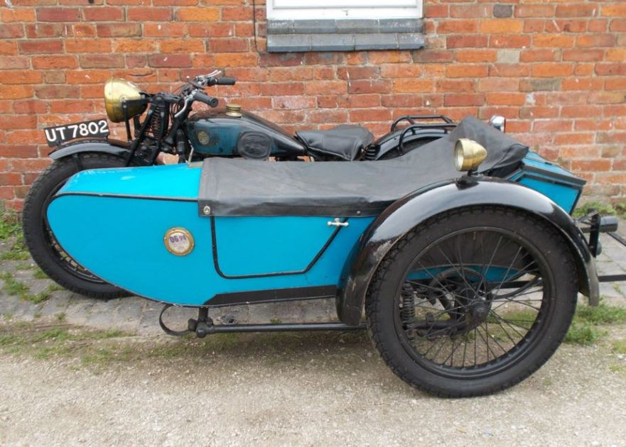 Triumph NSD with Gloria Sidecar - Left Side