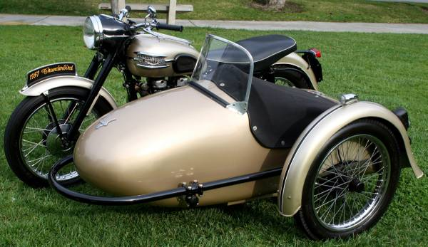 1957 triumph thunderbird sidecar | bike-urious