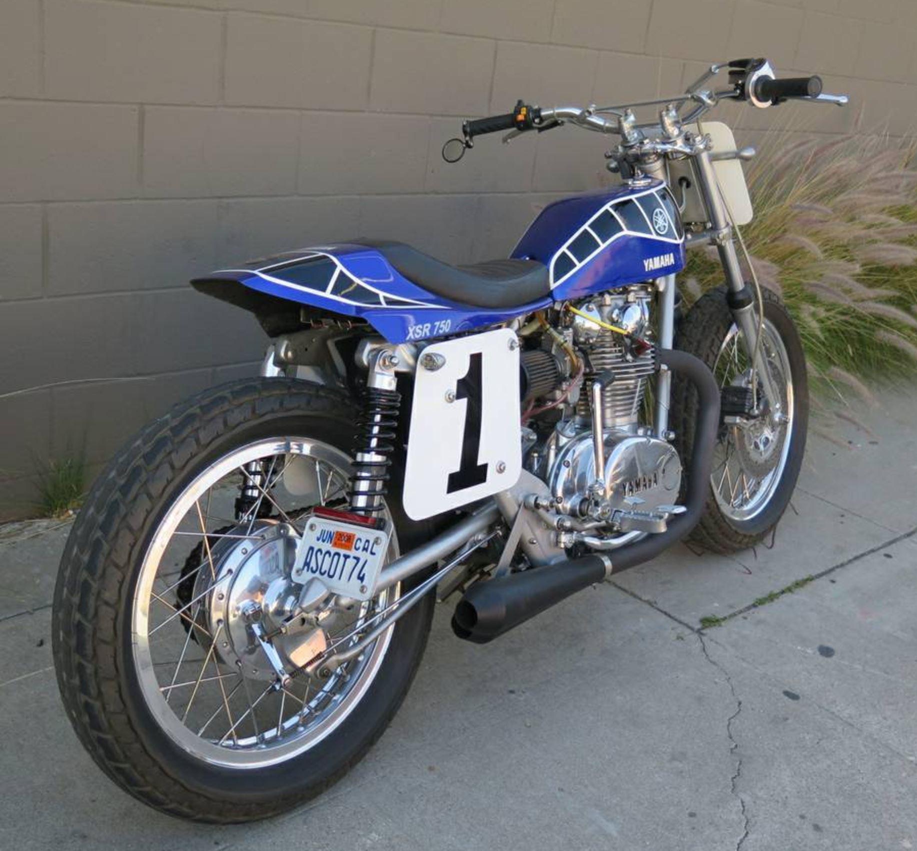 Black And Blue Yamaha Xs650 Street Tracker Bike Urious
