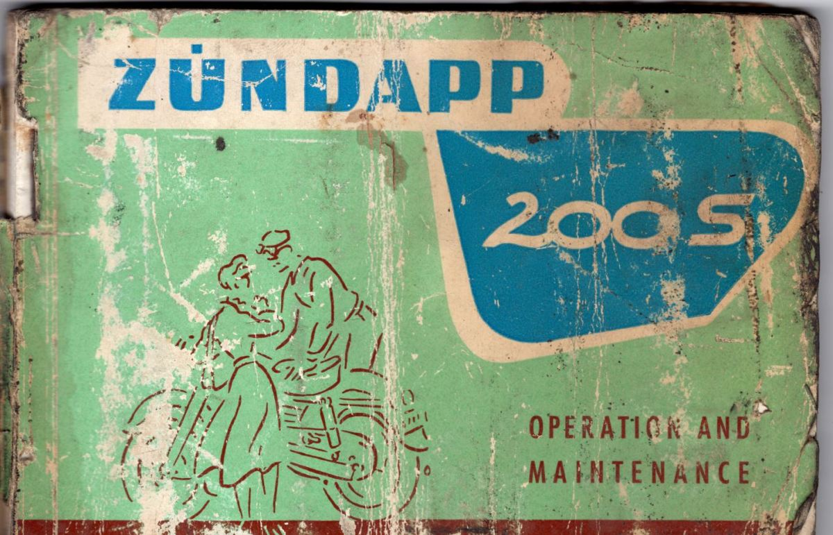 Owner's Manual Intermission - 1958 Zundapp 200S