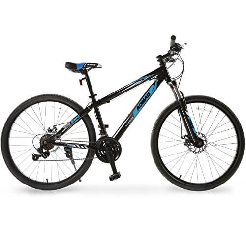 Uenjoy 27.5 Mountain Bike 21 Speed Hybrid Bicycle for Adult Front Fork