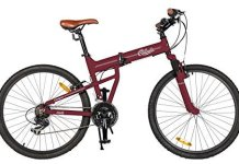 Columbia Bicycles Compax 26 Men's 21-Speed Folding Mountain Bike, 18One Size