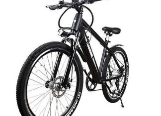 NAKTO 350W Electric Bicycle Mountain E-Bike SHIMANO 6 Speed Gear with Smart Multi Function LED