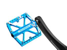 RockBros Bike Pedals Platform Mountain Bicycle Road Cycling Pedals Aluminum Alloy Cr-Mo Machined 3 Sealed Bearing Pedals 916 Blue