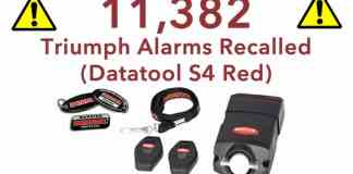Datatool S4 Red Recalled
