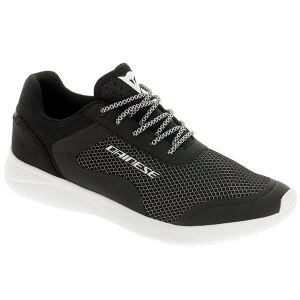 Cheapest Dainese Afterace Shoes - Black / Silver / White Price Comparison
