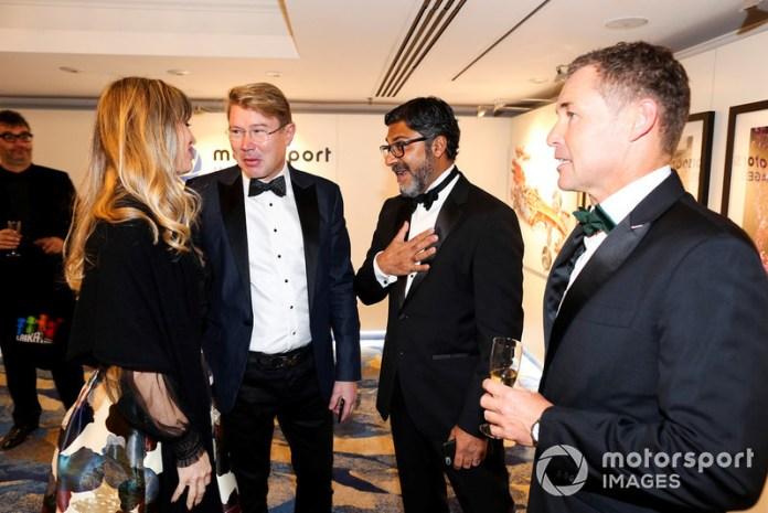 Mika Hakkinen, Tom Kristensen and Manish Pandey