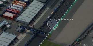 2019 MotoGP Silverstone Quatararo Dovizioso crash screencap