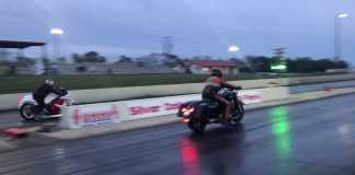 Watch This Harley Road King Drag A Hayabusa All Over The Strip