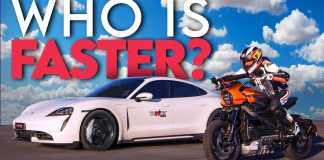 Harley LiveWire Goes Up Against Electric Porsche On Quarter Mile