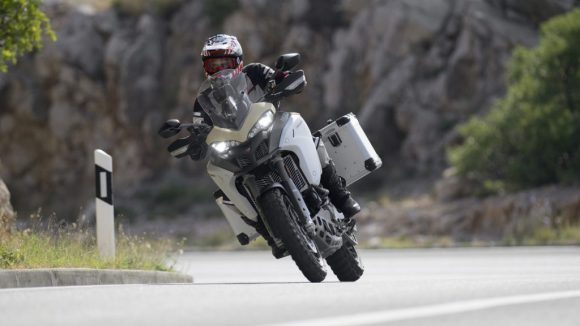 Multistrada 1260 Enduro on the road