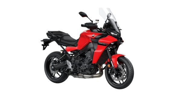 Yamaha Tracer 9 on a white background