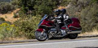Two people on the Honda Goldwing 1800