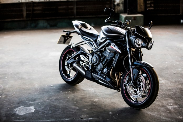 A Triumph Street Triple 765 RS in static state