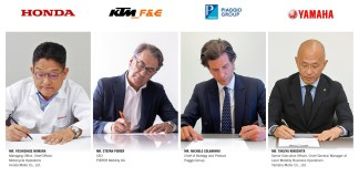 SWAPPABLE BATTERIES MOTORCYCLE CONSORTIUM AGREEMENT SIGNED BETWEEN HONDA MOTOR, KTM F&E, PIAGGIO GROUP AND YAMAHA MOTOR FOR MOTORCYCLES AND LIGHT ELECTRIC VEHICLES