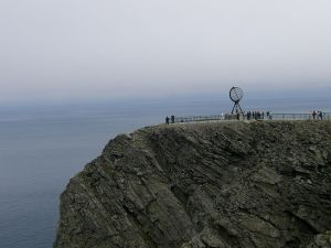 The view from Nordkapp, Norway