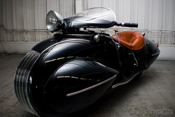 Art deco motorcycle