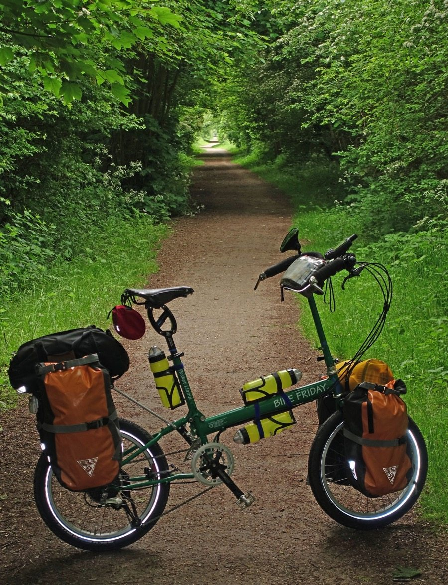 Dirt cycling path in the woods in the UK