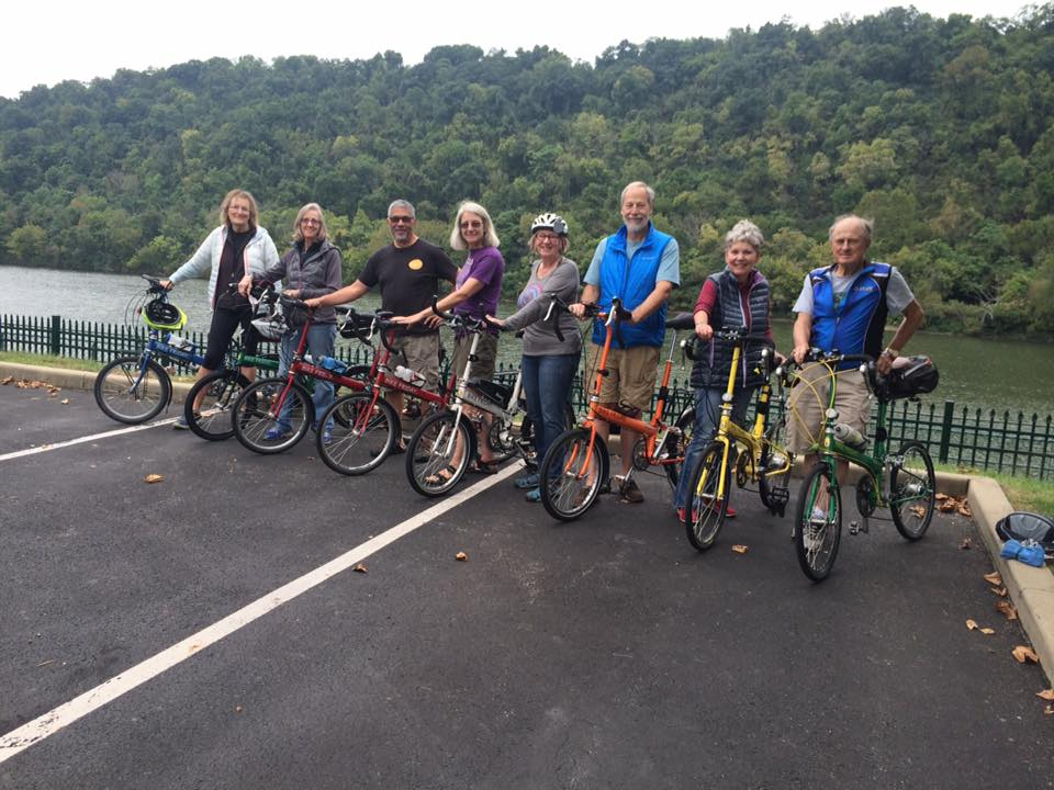 Eight Bike Friday riders trek the Great Allegheny Passage