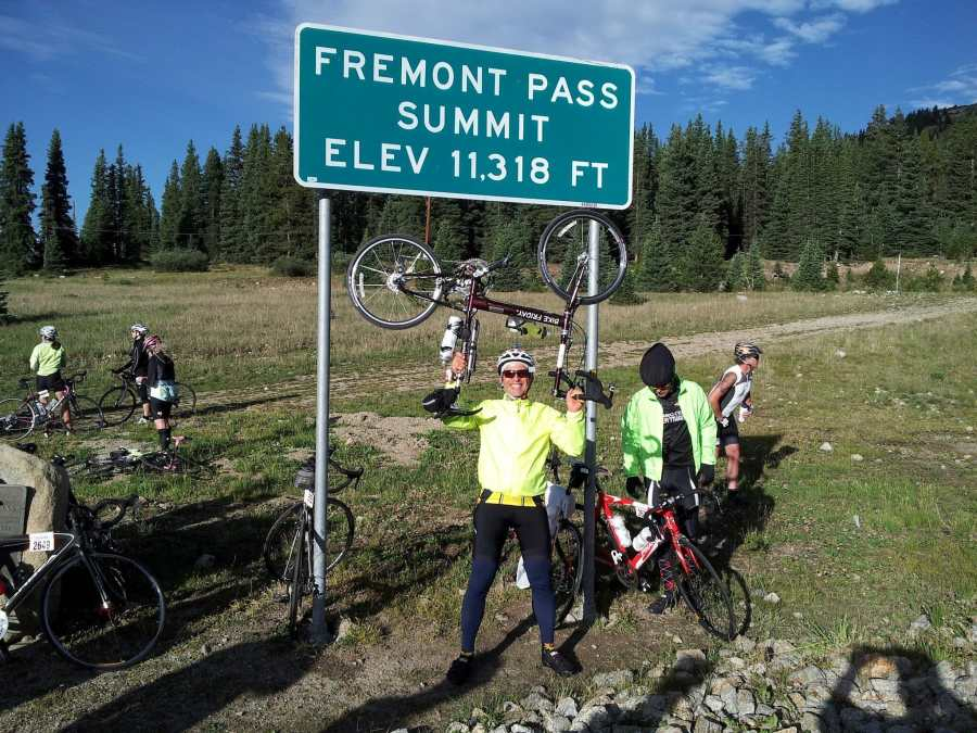 A victorious ride to the Fremont Pass Summit
