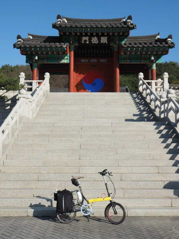 A beautiful temple on the ride between Seoul and Busan
