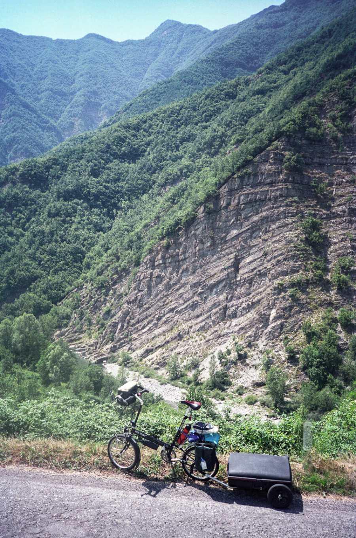 Cycling on an Italian mountain pass