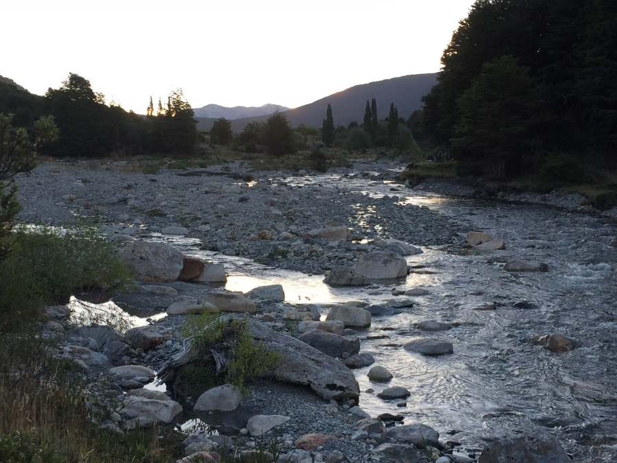 Chilean campsite and stream