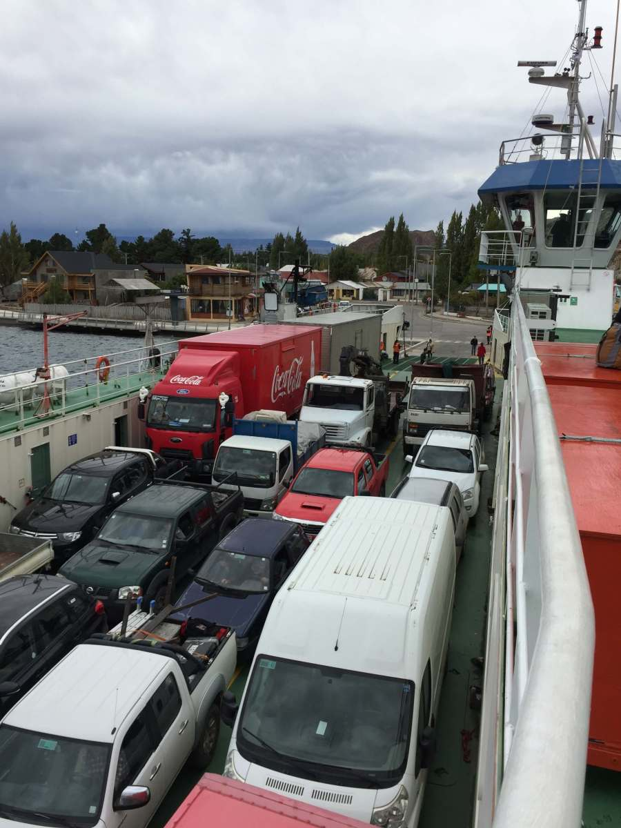 Chilean ferry full of vehicles