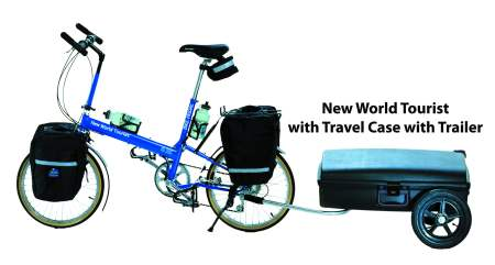 BIke Friday New World Tourist with Travel case and trailer