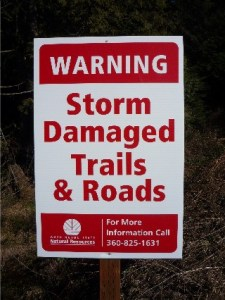 New to Tiger Mountain: Storm Damage Signs!