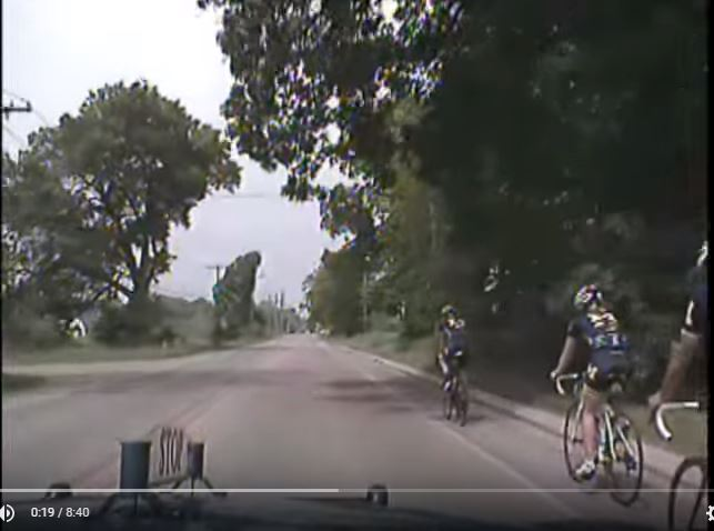 Cyclist Begins Pass