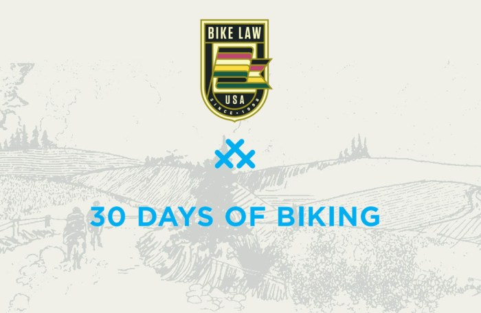 30 Days of Biking Pledge