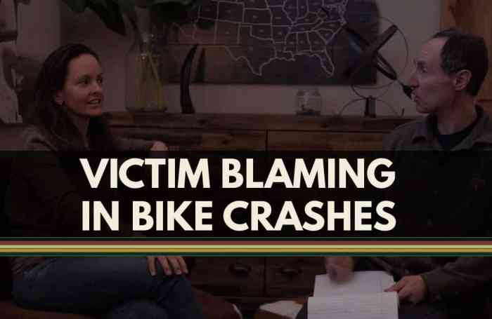 Bike Law - Victim Blaming in Bike Crashes
