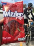 Bike tour food - twizzlers