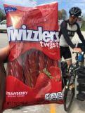 Bike tour food - twizzlers