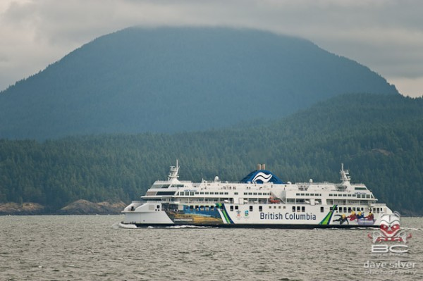 The school buses brought us to the ferry, which sailed us to Vancouver Island.