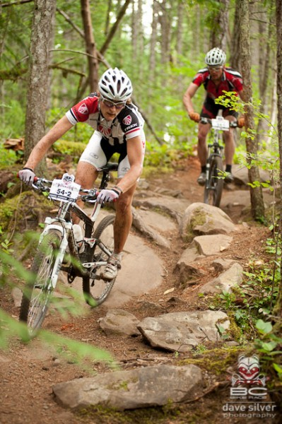 Once the riders hit singletrack it was no cakewalk. These trails are technical in the best way possible.