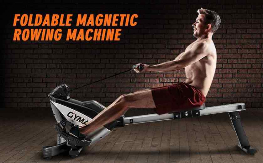 GOPLUS Magnetic Rowing Machine Foldable Exercise Rower