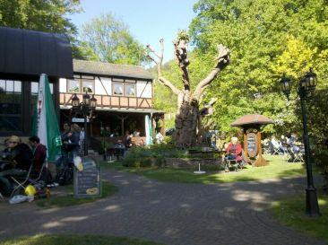 Papiermühle in Jena, der Biergarten