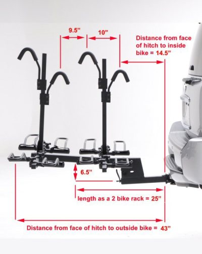 Hollywood HR1400 Sport Rider 4-Bike Platform Hitch Rack 2