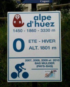 Alpe d'Huez, bend 0