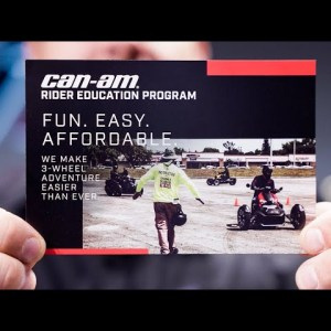 Learn How to Ride a 3-Wheel Vehicle with Can-Am On-Road