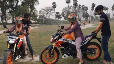TEACHING HER how To RIDE A MOTORCYCLE