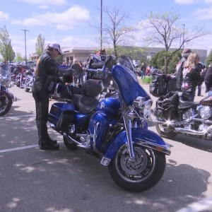 Motorcycle enthusiasts hold annual safety awareness parade