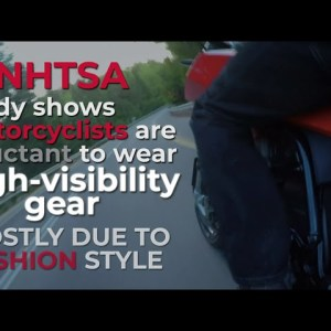 Bright colored motorcycle fashion can safe your life